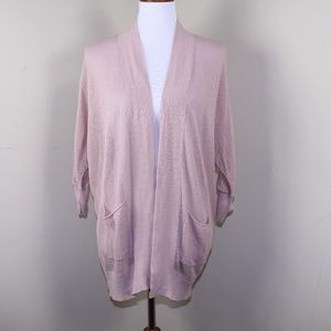 Old Navy Pink Open Knit Drapey Cardigan Size Small